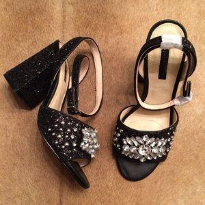 TopShop Razzle Glitter Block Heel